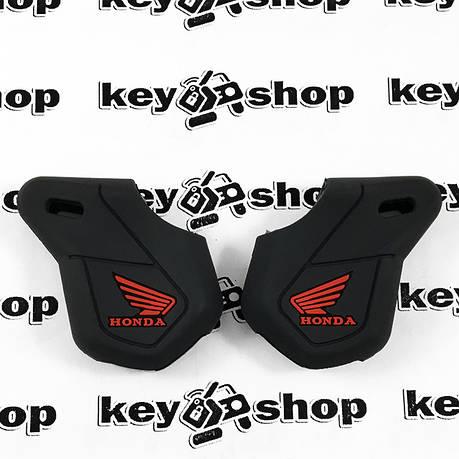 Чохол (чорний, силіконовий) для мото ключа Honda (Хонда), фото 2