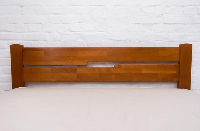 Кровать двуспальная Айрис с ящиками (изголовье, орех)