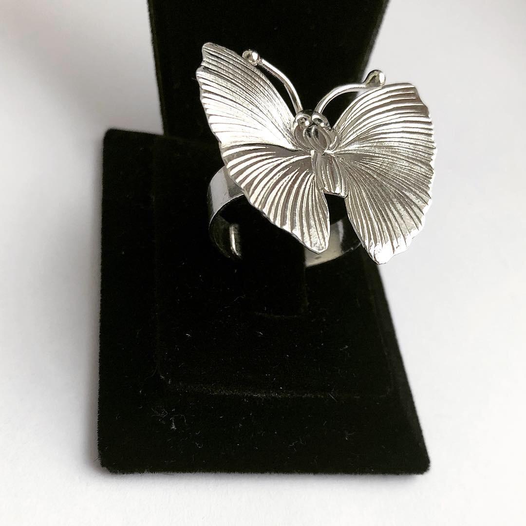 Кільце Мої прикраси з срібла у формі метелика