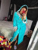 Женский махровый халат 100% хлопок Турция