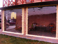 Мягкие прозрачные шторы ПВХ для летних беседок, террас и веранд