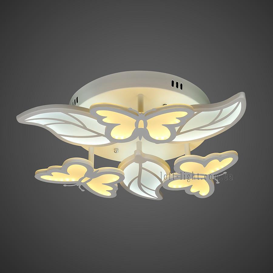 Люстра потолочная светодиодная   55-MX10019-3+3 WH LED
