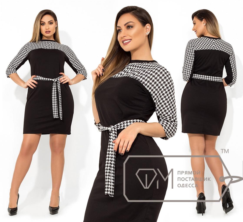 6d07fe7516f Платье со Вставками в Гусиную Лапку — в Категории