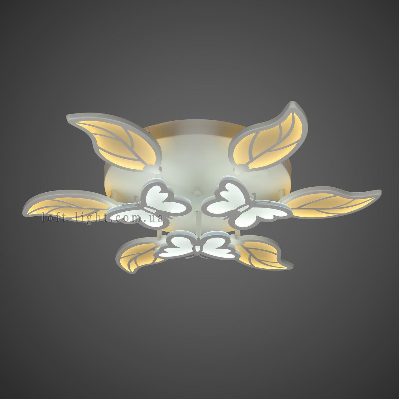 Люстра потолочная светодиодная  (модель  55-MX10019-6+3 WH LED)