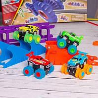 Набор Trix Trux 2 машинки Трикс Тракс две машинки монстр траки вездеход авто трек подарок для ребёнка