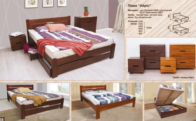Кровать полуторная Айрис ассортимент