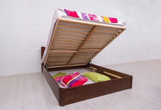Кровать полуторная Айрис с подъемным механизмом (бельевой ящик)