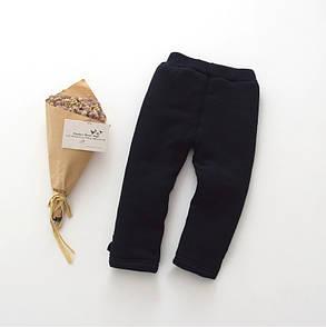 Штаны лосины детские утепленные на девочку зима синтепон+плюш черные, фото 2