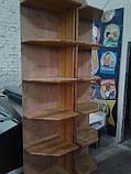 Стелаж з дерева б, дерев'яні стелажі торгові б, дерев'яний стелаж б/в, стелажі кутові б/у, фото 2