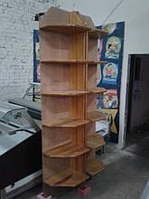 Стеллаж из дерева б у, торговые деревянные стеллажи б у, деревянный стеллаж б/у, стеллажи угловые б/у