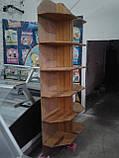Стелаж з дерева б, дерев'яні стелажі торгові б, дерев'яний стелаж б/в, стелажі кутові б/у, фото 4