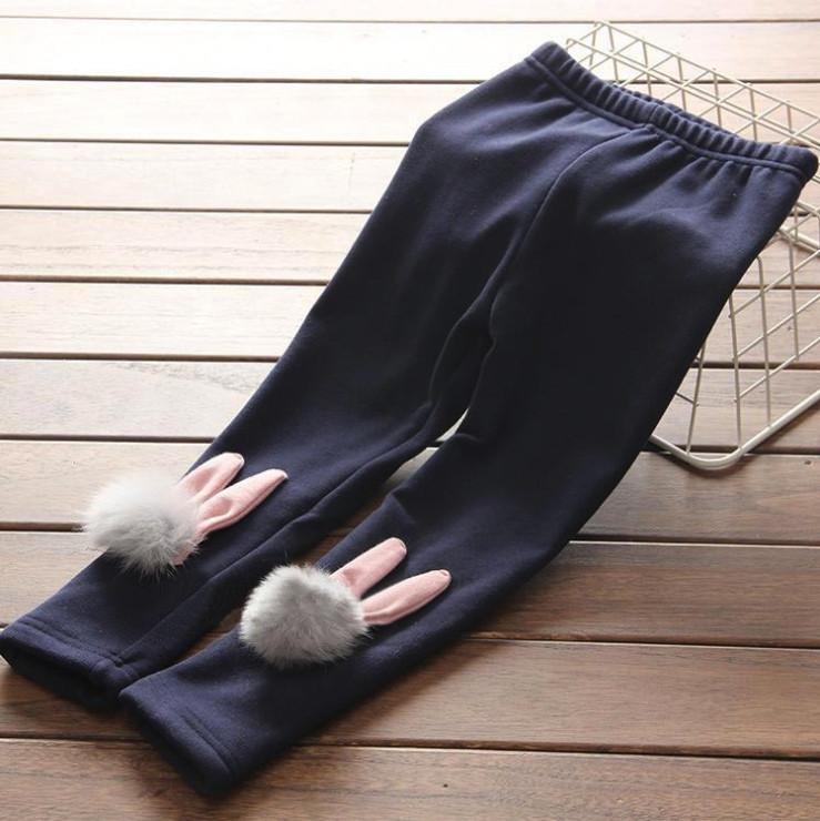 Штаны лосины детские утепленные на девочку зима с кроликом  2-6 лет