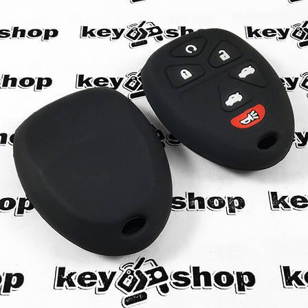 Чехол (черный, силиконовый) для пульта GMC, Hummer (ДжиЭмСи, Хаммер) 5+1 кнопки, фото 2