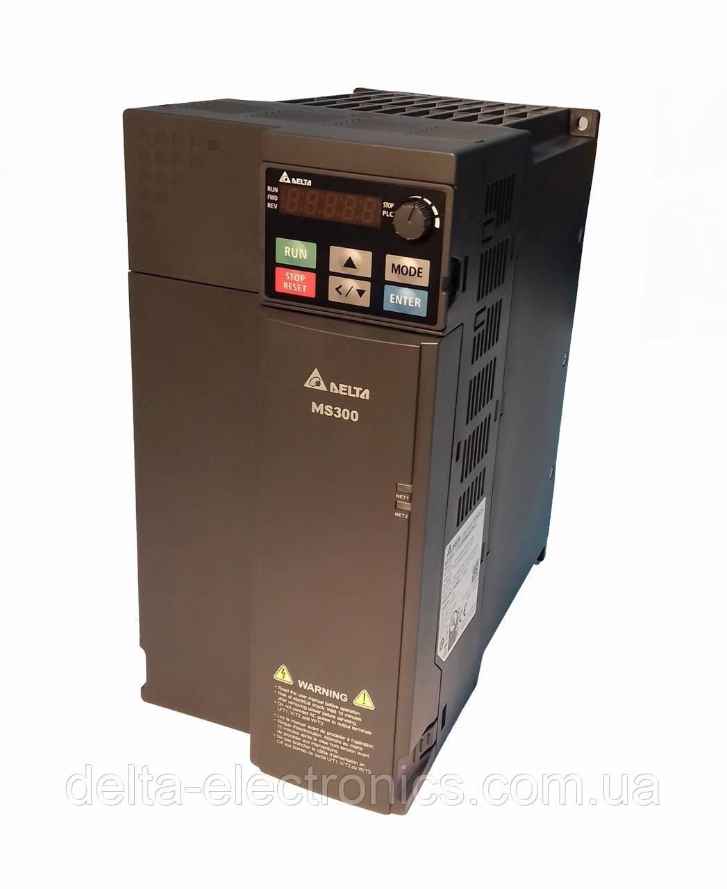 Преобразователь частоты MS300, 3x380В, 18,5 кВт, 38/41,5А, ЭМС С2 фильтр, векторный, c ПЛК, VFD38AMS43AFSAA