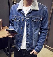 Джинсова куртка на хутряній підкладці. (01291), фото 1