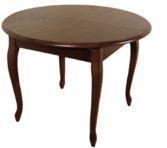 Стол круглый Лион орех 100(+40)*100 обеденный раскладной деревянный
