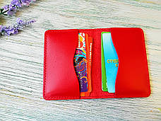 Подарочный набор из натуральной кожи  красная вышиванка, фото 3