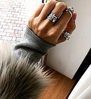 Кольцо Мої прикраси из серебра с куб. цирконами двойное (размеры с 17,5 по 19), фото 1