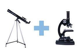Телескоп і мікроскоп набір
