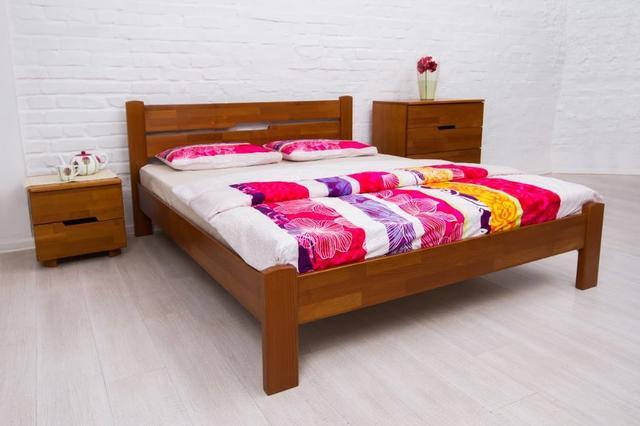 Кровать двуспальная Айрис без изножья (орех)