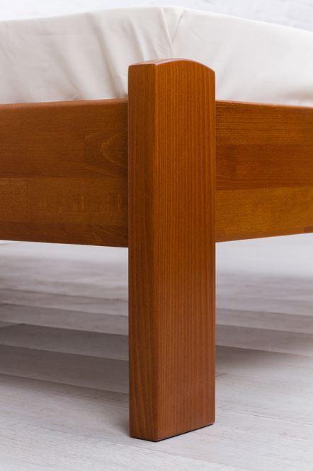 Кровать полуторная Айрис без изножья (опора, орех)