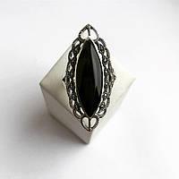 Кольцо перстень из серебра с ониксом (Размер 19,5), фото 1
