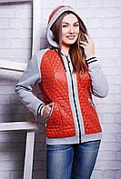 Куртка женская демисезонная терракотовая Кристи размеры 40-44