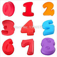 Форма СИЛИКОНОВАЯ для выпекания кексов бисквита гладкая цифра 4