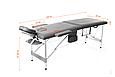 Складной стол PROFIBED для косметического массажа (кушетка ) алюминиевый, фото 2