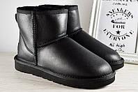 ✅Угги женские UGG Australia Mini Black Classic original | Угги Автсралия классические черные кожаные