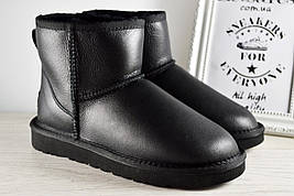 Угги женские UGG Australia Mini Black Classic original | Угги Автсралия классические черные кожаные