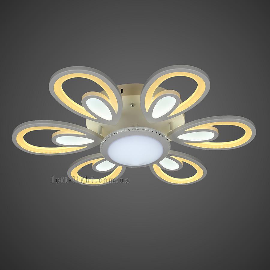 Люстра стельова світлодіодна 55-MX10024-6+1 WH LED