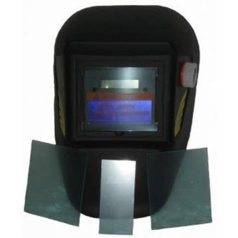 Сварочная маска хамелеон Герой 350D + 3 запасных стекла, фото 2