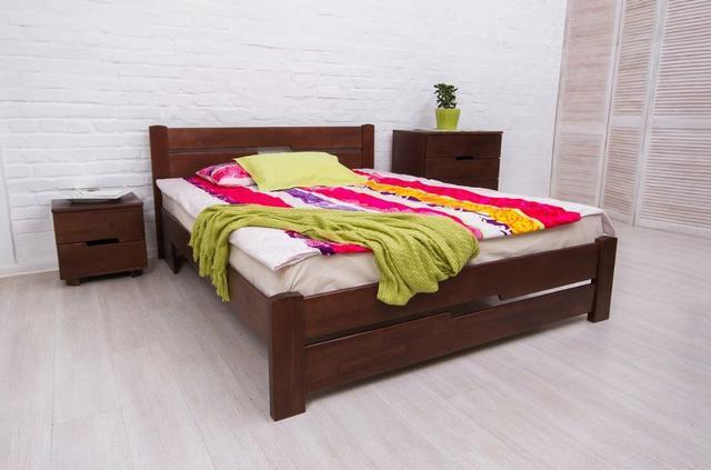 Кровать односпальная  Айрис с изножьем (темный орех)