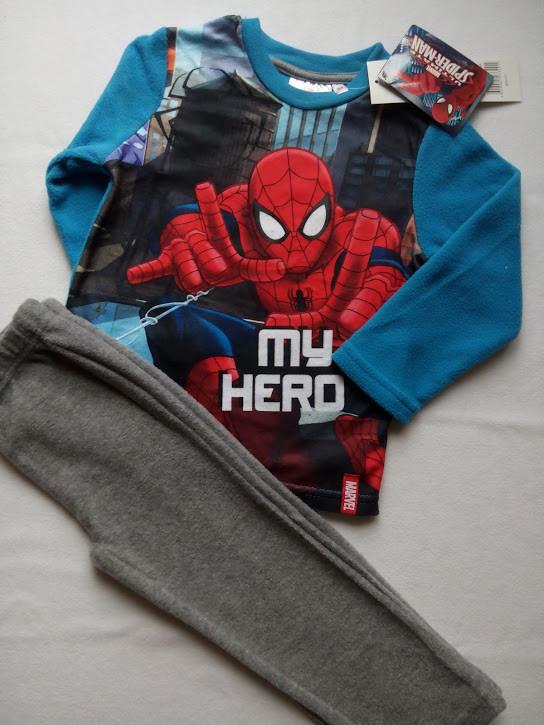 Теплая пижама для мальчика на флисе TM SunCity (Spider-man) 3года, фото 1