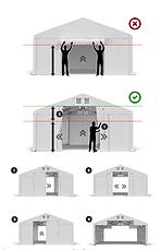 Торгова намет - намет 4 x 6 м водостійка сіра, фото 2