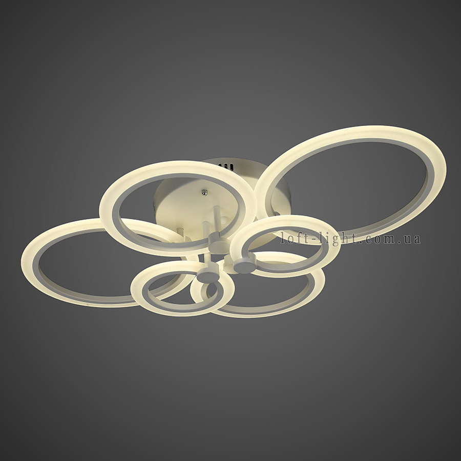 Люстра стельова світлодіодна 55-MX10025-6 WH LED