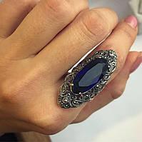 Кольцо Мої прикраси из серебра имитация сапфира