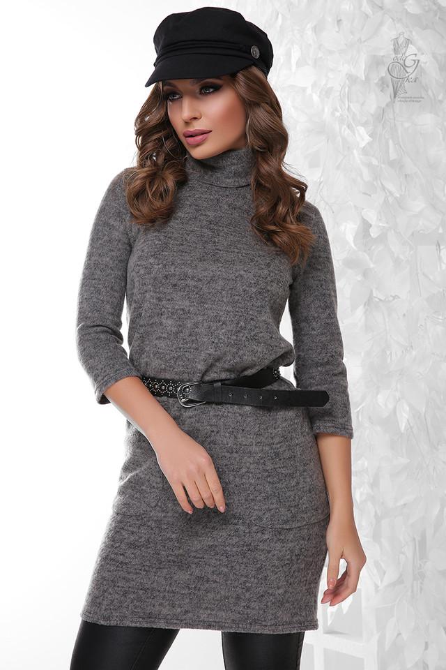 Цвет серый Ангорового женского платья Каиса