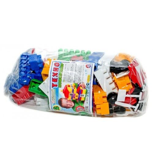 0502 Детский конструктор Техно 2, 100 элементов, пластик тм Технок, сетка