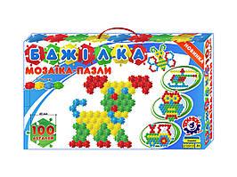 """1035 Детская игра Мозаика-пазлы """"Бджілка"""" 100 деталей пластмасса Технок"""