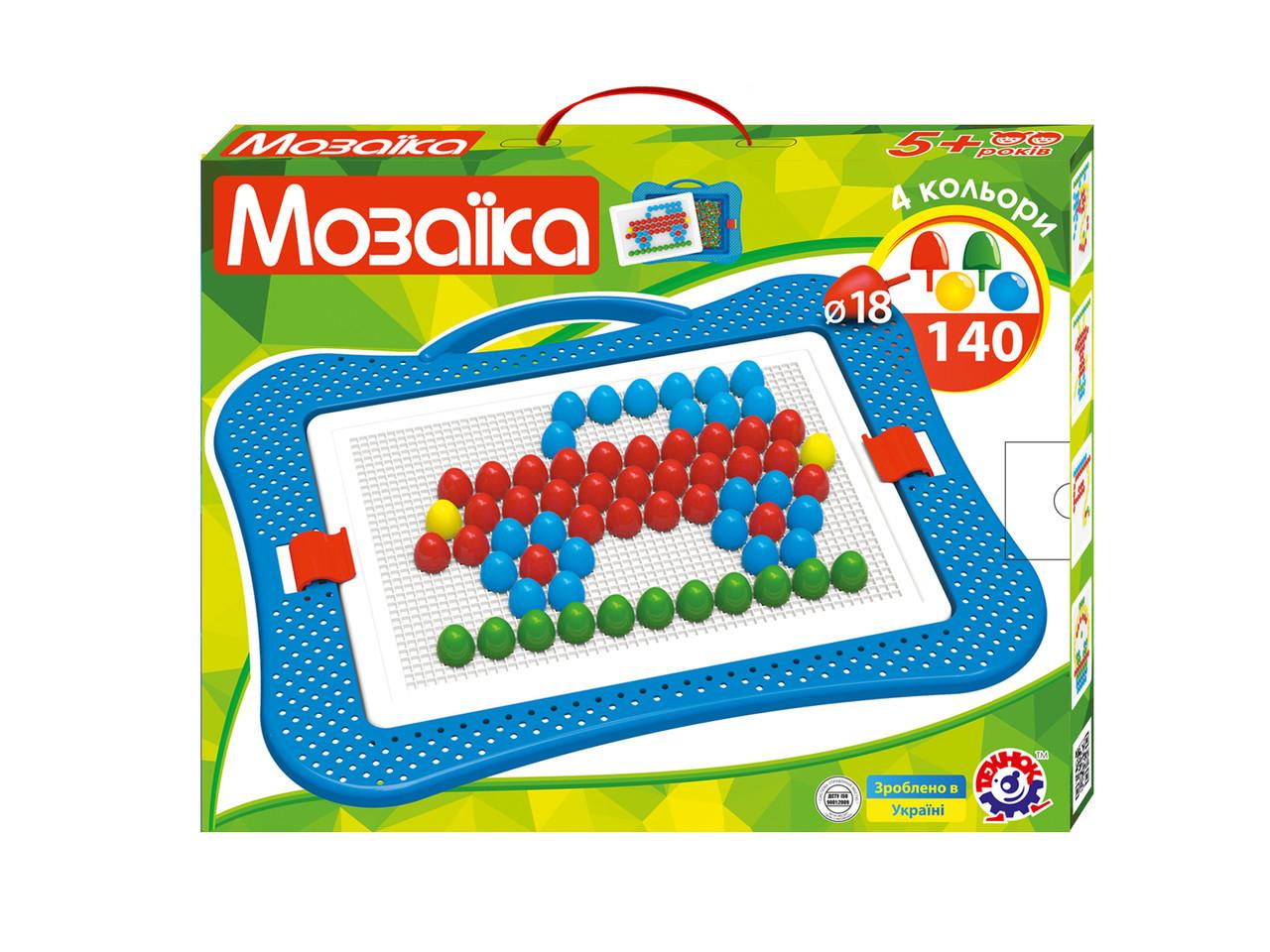 3381 Детская игра мозайка для малюків 6 пластмасса Технок