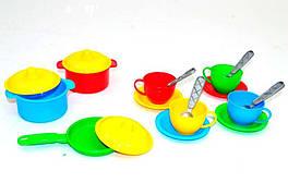 0687 Детская посудка Маринка 1 (в кульке) пластик Технок