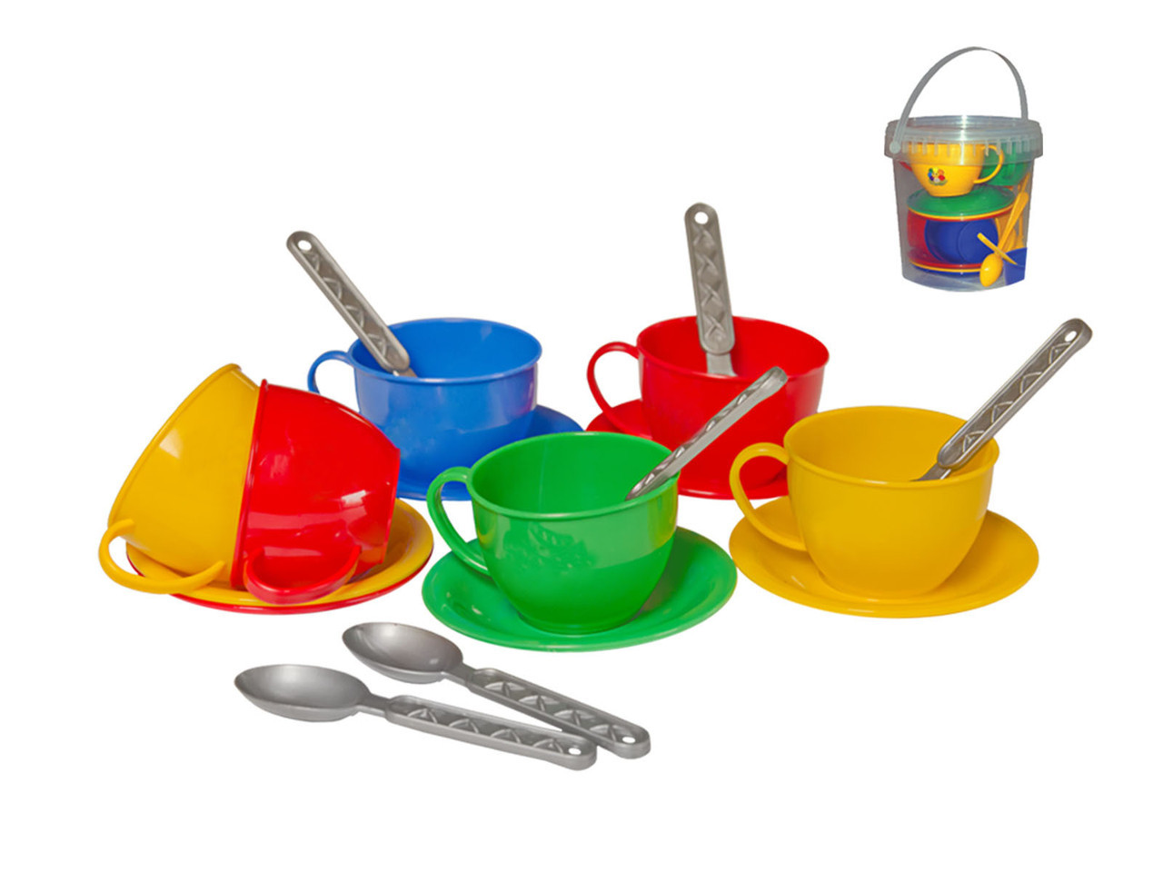 "0083 Игровой набор детская посудка ""Чайний сервіз"" (в відерку) Технок"