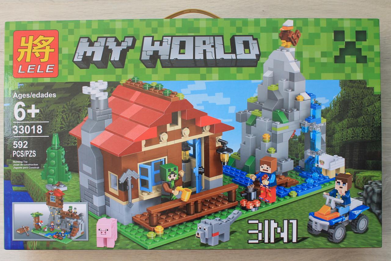 33018 Дачный домик героев Minecraft 592 детали