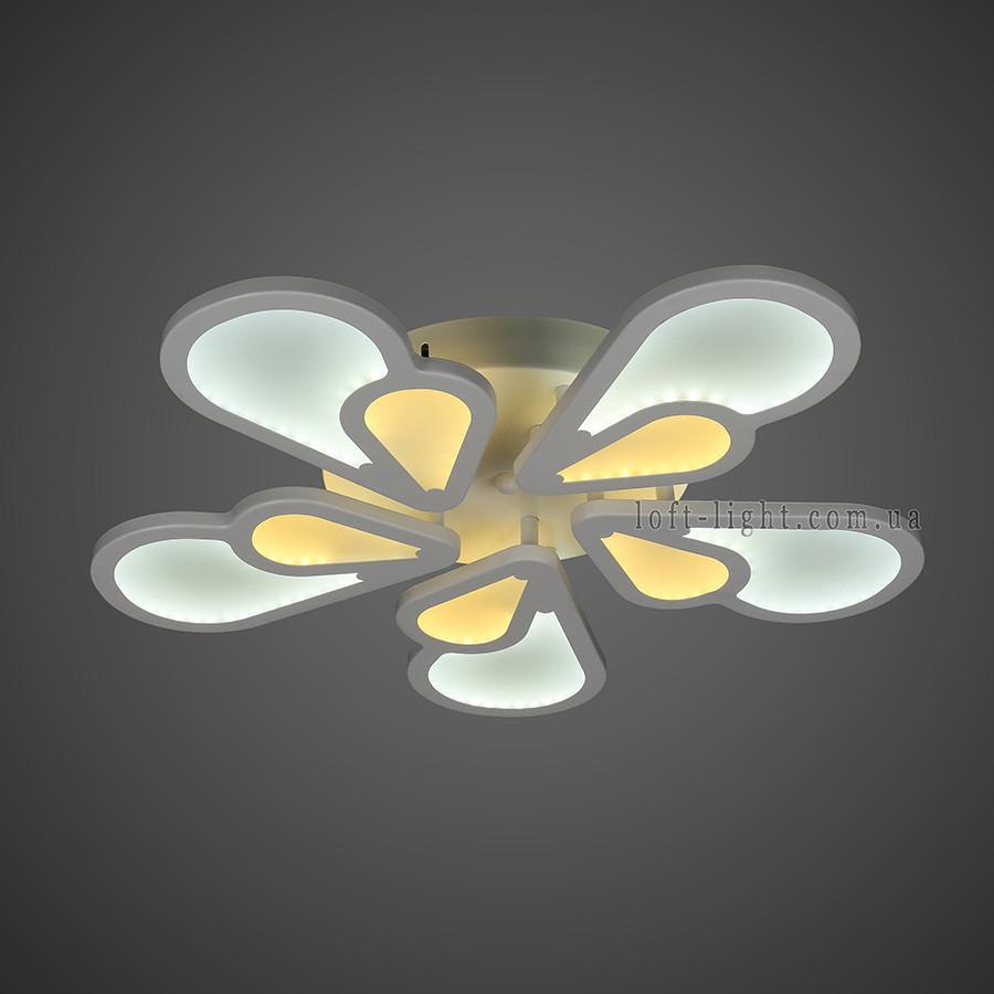 Люстра потолочная светодиодная  55-MX10026-5 WH LED