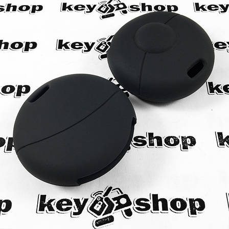 Чехол (черный, силиконовый) для авто ключа Mercedes Smart (Мерседес Смарт) 1 кнопки , фото 2