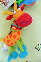 033JF Детская игрушка от 0+ Игрушка-подвеска дрожащая Счастливый жираф тм Biba Toys