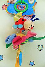 111BR Детская игрушка от 0+ Игрушка-подвеска lady вибрирующая БОЖЬЯ КОРОВКА НА ЦВЕТКЕ тм Biba Toys