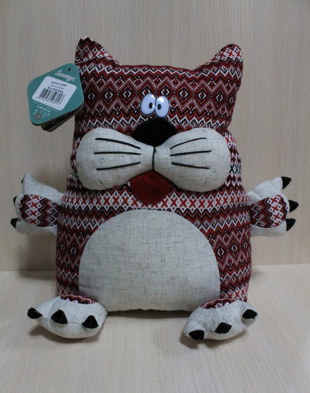 К300В Мягкая игрушка Кіт подушка, тм Левеня